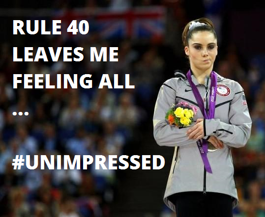 RULE 40 UNIMPRESSED